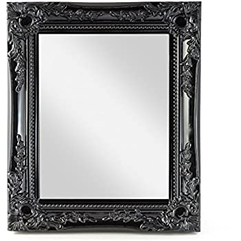 Large Black Shabby Chic Framed BEVELLED Mirror 42inch x 30inch ...