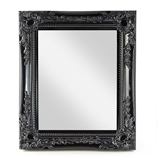 elbmöbel 32x27x3cm rechteckiger Wand-Spiegel klein, handgefertigter Vintage-Antik-Rahmen aus Holz,...