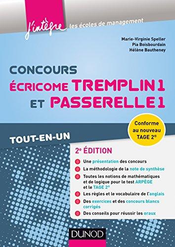 Concours Écricome Tremplin 1 et Passerelle 1 - 2e éd. - Tout-en-un
