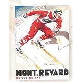 FRANCIA VINTAGE POSTER CARTEL PUB RETRO 50x70cm escuela de esquí Mont Revard Aix les Bains por Paul Ordner