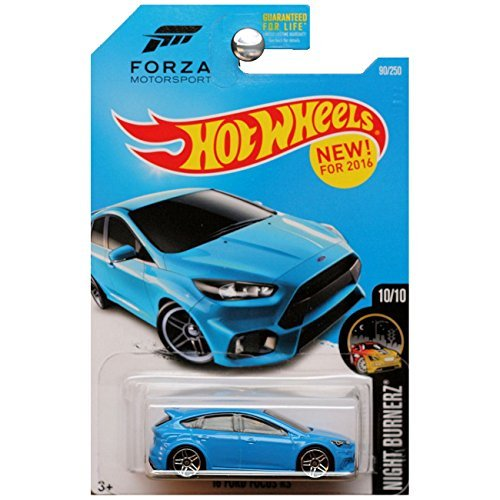 Hot Wheels, 2016 Night Burnerz, Forza Motorsport  16 Ford Focus RS  Blue 2eca2eb18ab4