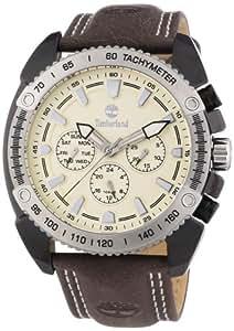 Timberland - TBL.13901JSBS/07 - Bennington - Montre Homme - Quartz Analogique - Cadran Beige - Bracelet Cuir Marron