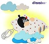 Unbekannt 3-D Wandlampe - LED dimmbar aus Holz -  der kleine Maulwurf schläft  - Lampe mit Schalter für Kinder - Kinderzimmer Kinderlampe Wandleuchte mit Stecker / Na..