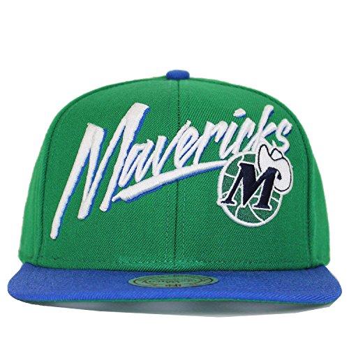 mitchell and ness vice script dallas mavericks snapback vert/bleu
