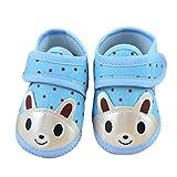 Auxma Zapatos de la niña de la historieta muchacho suave Sole cuna del niño zapatillas de lona (0-10 meses) (0-3 Mes, Azul)