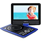 "COOAU 11.5"" Portable DVD Player, 5 Hours Rechargeable Battery, with 360� Swivel Screen/Remote Control/Game Joystick, Supports SD Card/USB/Sync TV, Direct Play in Formats AVI/RMVB/JPEG/MP3, Blue"