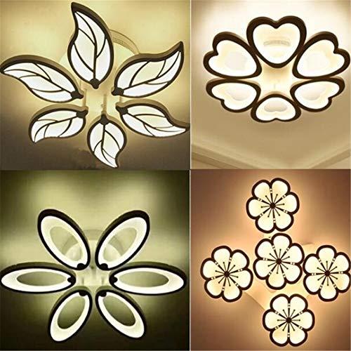Design-Acryl-moderne geführte Deckenleuchten-Innenformen 4 Warm White 6 Heads leaf -
