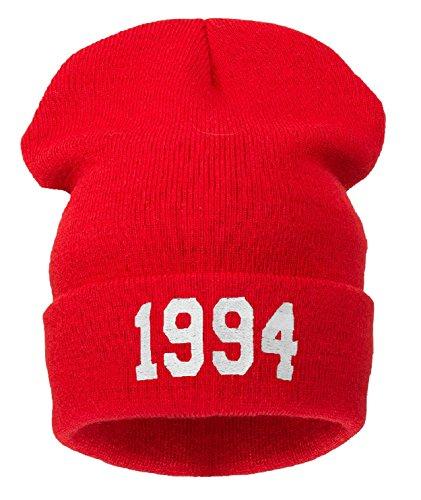 4sold - Bonnet -  Homme noir Noir Taille universelle noir - 1994 red