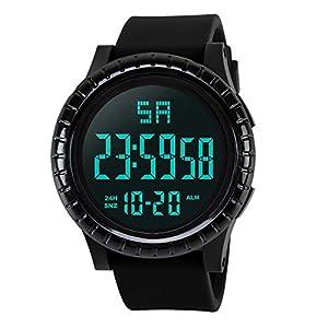 Herren Uhren, BBring HONHX Männer Jungen Sport Wasserdicht LCD Digital Stoppuhr Datum Silikon Armbanduhr