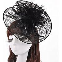 Cappello di pizzo Bibi clip Columbia elegante retro piuma di Xagoo capelli del cappello(stile 2)