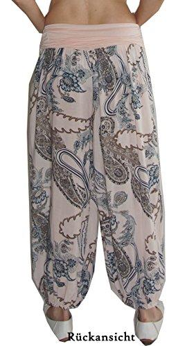 Jersey-Hose mit breitem Bund, weites Bein, Gummizug , ungefüttert, weich fließende Viskose, Uni-Größe - passt in Gr. 36 bis Gr. 44 dank super Schnitt Uni-Hellblau