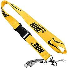 Nike telfono celular llavero Lanyard ID de llaves MP3Soporte Cuello Correas con Locals Abridor de botellas, Amarillo by Locals