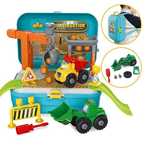 BOWA Camion Démontable Kit Vehicules de Chantier Jouet Cadeau pour Les Enfants