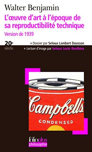L'œuvre d'art à l'époque de sa reproductibilité technique: Version de 1939