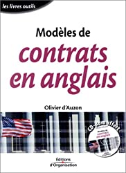 Modèles de contrats en anglais (CD-Rom offert)