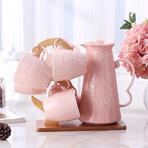 FAN4ZAMEHome Keramik Kaffeetasse Setafternoon Cup Sets Von Combinationscold Wasser Und Große Kapazitäten Keramik Teekanne Set Becher Set Wasser Schale Kaffee Trinken Kanne (Reise Gold Star Wars Kostüme)