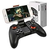 LCOSE Pro Android Bluetooth Gamepad mit Teleskop Handy-Halter, Handy Game Controller mit Halterung für Smartphone, Bluetooth 4.0 Wireless Gamepad auch für Tablet / PC / Smart TV