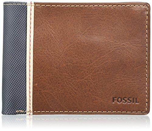 Fossil Herren Elgin Geldbörse, Braun (Brown), 1.9 x 9.5 x 12.1 cm