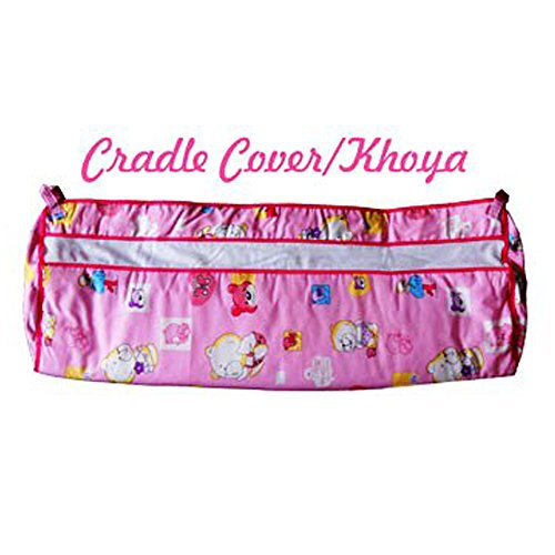 Baby-Cradle-Cover-or-Khoya-Pink-Colour-Teddy-Bear