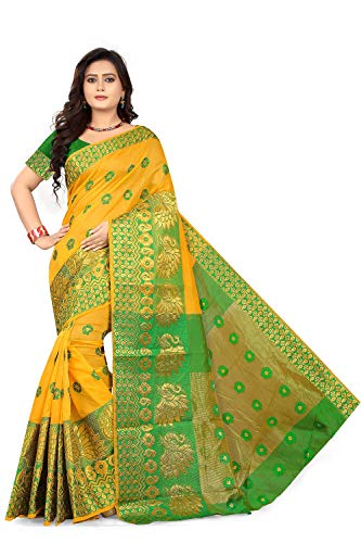 Anghan Brothers Cotton Saree With Blouse Piece 1