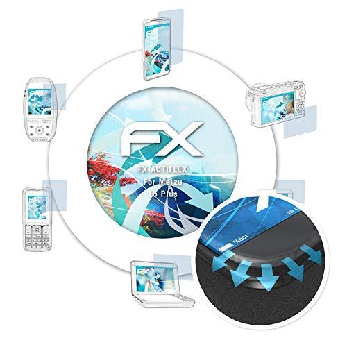 atFolix Schutzfolie passend für Meizu 15 Plus Folie, ultraklare & Flexible FX Bildschirmschutzfolie (3X)