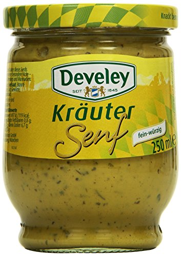DEVELEY Kräuter Senf, 8er Pack (8 x 250 ml)