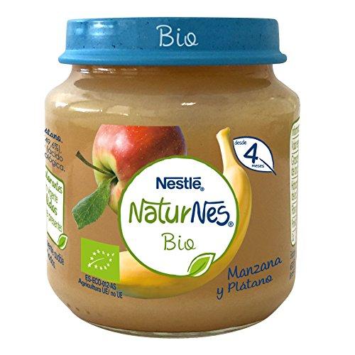 Nestlé Naturnes Bio - Puré de Manzana y Plátano - Puré Para...