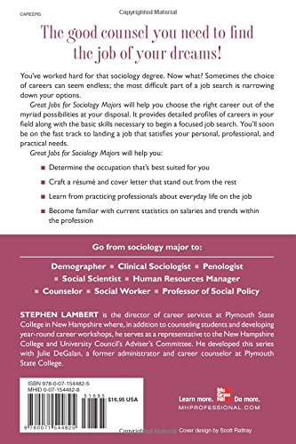 Great Jobs for Sociology Majors (Great Jobs Series)