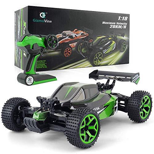 GizmoVine Ferngesteuertes Auto RC 1/18 4WD RC Car Hochgeschwindigkeit 2.4Ghz Fernbedienung Racing Rennauto Auto Spielzeug Fahrzeug mit Aufladbaren Batterien (Grün)