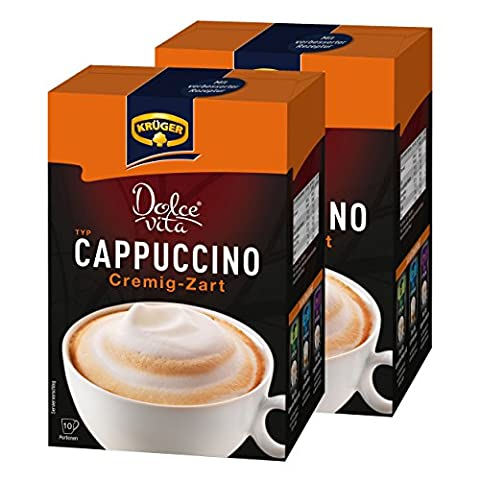 Krüger Dolce Vita Cappuccino Soft, Creamy Café Au Lait Coffee Löslichem Beans Coffee, 20Packets