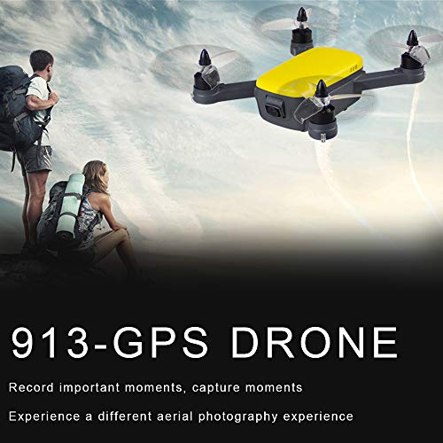 913 GPS 5G WiFi FPV con 1080P HD Camera Altitude Hold Mode Brushless RC Drone Quadcopter RTF Giallo