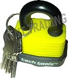 Nuevo 30 mm impermeable - Candado de acero sólido resistente - 3 teclas con cada cerradura - Tapa protectora rígidapara cerradura - Home Security/jard