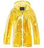 SS7 Frauen Holographic Regen Mac Wasserdichte Regenjacke Damen rosa Jacke Größe 36-44