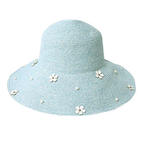 Chapeau paille/Pliage ete Liang Mao/Visière/Chapeaux de plage/Lady balnéaire Sun Hat A