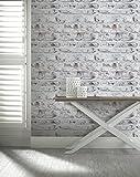 Arthouse Ziegelstein Optik Brown White Alt Verwitter Rustikale Whitewashed Tapete