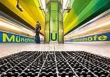 Münchner U-Bahnhöfe (Posterbuch DIN A3 quer): Münchner U-Bahnhöfe