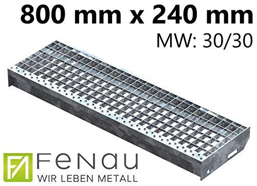 Einpress Treppenstufe EP Stufe Tritt Gitterroststufe 30x30 mm 700 x 240 mm