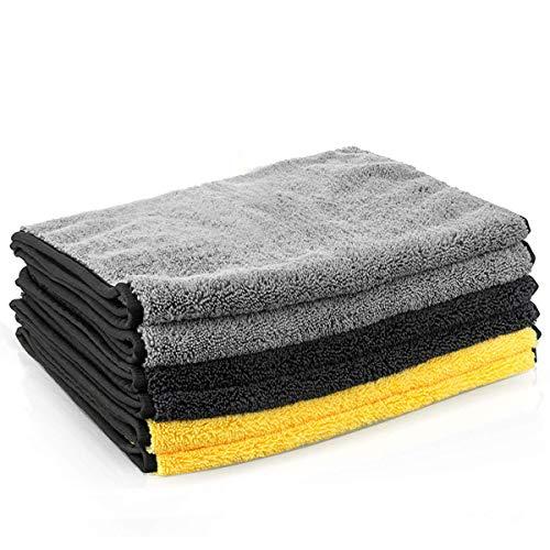 MATCC Microfasertücher Autopflege Auto Trockentücher Poliertücher Saugfähiges 6 X Reinigungtücher 40X80cm Extrem Saugstark und Lackschonend Lackpflege Autopflege zur Reinigung von Auto und Motorrad