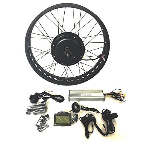 48V1500W Hub Motor Elektro-Fahrrad Umbausatz Electric Bike Conversion Kit 4.0 Fat Rim + LCD + Tire Theebikemotor (20