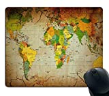 #9: Style Crome World Map Mousepad Mouse Pad Mat Non-Slip Thick Rubber Mousepad (9.1 x 7.3 inches)