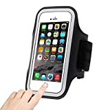 Sports Armband, Bukm Universal Sweat Resistant Sports Armband with Adjustable size,Fingerprints to unlock- Phone Holder for Running Compatible with iphone 7/6s(4.7-Inch), Suitable for Biking, Hiking, Walking,Jogging, Golfing, Shopping, Housework (Black)