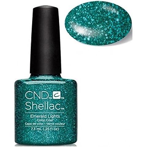 Nuovo 2016CND Shellac Starstruck, collezione Glitter smalto Soak Off Gel UV/LED luci (Smeraldo)