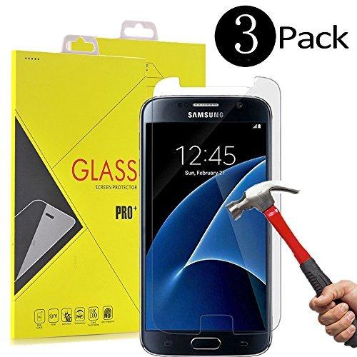 Galaxy S7Displayschutzfolie, [2Pack] sumoon Glas Displayschutzfolie [gehärtetem Glas] 9H Härte, Bubble Free [Case Freundlicher], 3 Stück -