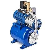 GIOEVO Pompa Centrifuga da Giardino Pompa Acqua in Acciaio Inox da 1300 W con Recipiente a Pressione (MC-1300-100L)