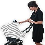 CoverMe 3en 1Carrito de bebé | maternidad para carrito de la compra | carcasa | funda para asiento de coche Gris y blanco