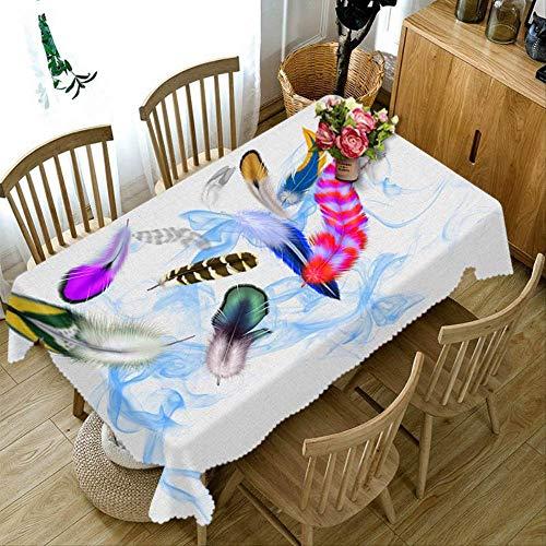farbige Papier Blume Muster staubdicht verdicken Baumwolle Hochzeit Party rechteckige Tischtuch Home Textil\r。 90cm X 150cm Farbe 1 ()