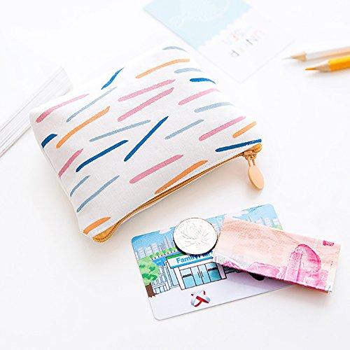 Tela portamonete della borsa piccola a portafoglio, 2pezzi 1# 2#