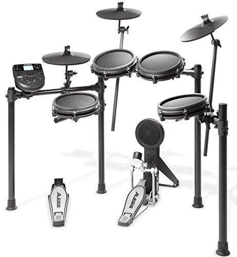 Alesis Schlagzeug Nitro Mesh Kit - Achtteiliges Mesh E-Drum Set mit Superstabilem Aluminium Rack, 385 Sounds, 60 Play-Along Tracks, Anschlusskabeln, Drum Sticks und Drum Key inklusive