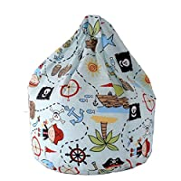 Cotton Blue Pirate Island Bean Bag Child Size