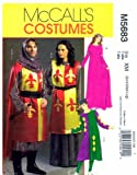 McCall 's 5683Schnittmuster Damen Herren Mittelalter Kostüme Größe Small Medium Large